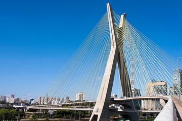 Cable-stayed bridge in Sao Paulo, Brazil