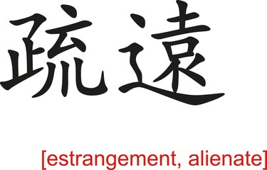 Chinese Sign for estrangement, alienate