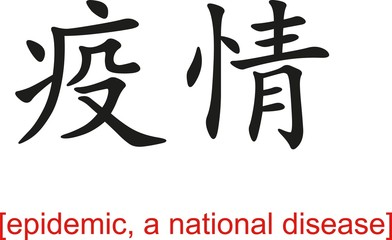Chinese Sign for epidemic, a national disease