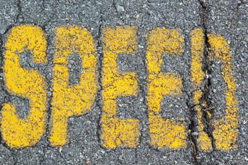 Symbolize ran speedway on road