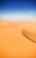 Beautiful sand dunes in the Sahara desert, Tunisia