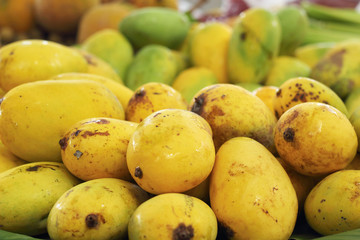 Ripe mango in the market