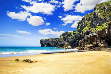 Andrin beach in Llanes, Asturias, Spain