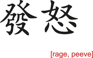 Chinese Sign for rage, peeve