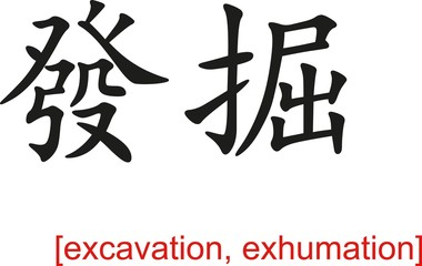 Chinese Sign for excavation, exhumation
