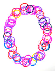 Colorful rubber band No.0