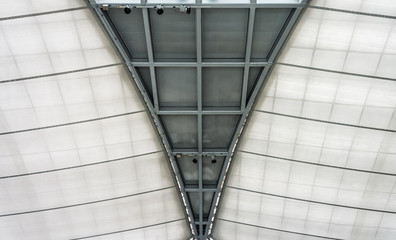 Structure metal and fabric of modern roof