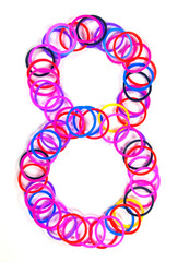 Colorful rubber band No.8