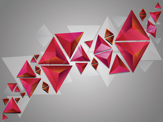 Red 3d Triangles