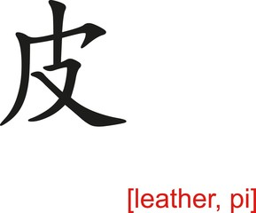 Chinese Sign for leather, pi
