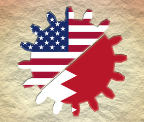 gear with usa and qatar national flags
