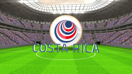 Costa Rica world cup message with badge and text