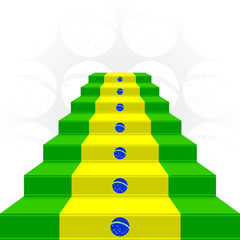 The stylized ladder. Flag of Brazil