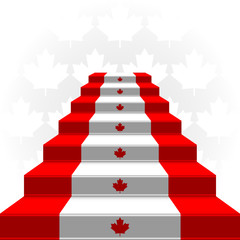 The stylized ladder. Flag of Canada