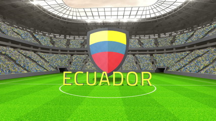 Ecuador world cup message with badge and text