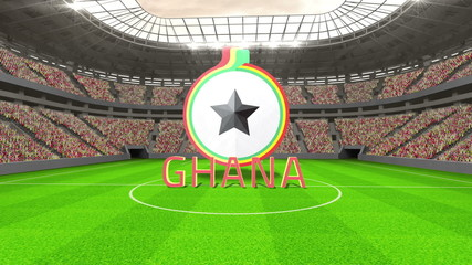 Ghana world cup message with badge and text