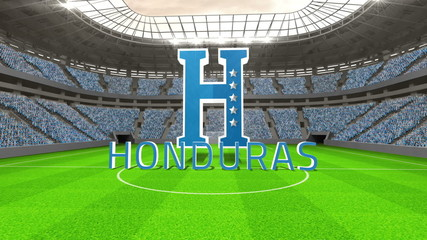 Honduras world cup message with badge and text
