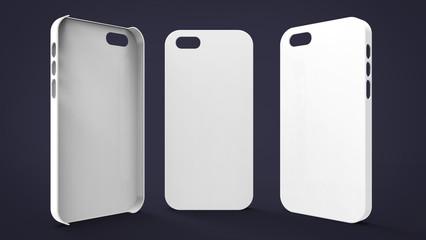 White Plastic Smartphone Case Mockup