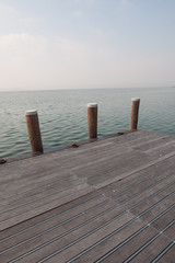 Jetty into Garda Lake