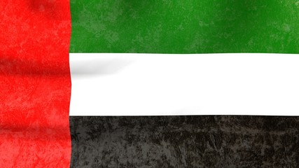 old wall covering textured united arab emirates national flag