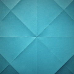 Blue fold paper abstract background