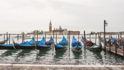 Venedig, Altstadt, historische Gondeln, Insel, Frühling, Italien