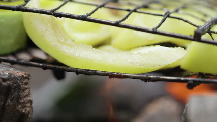 Vegetable on open fire
