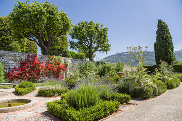 Nice, France. Garden of the monastery of Notre Dame de Simie