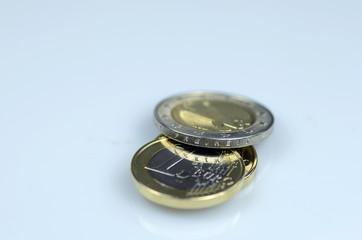 frische Euromünzen