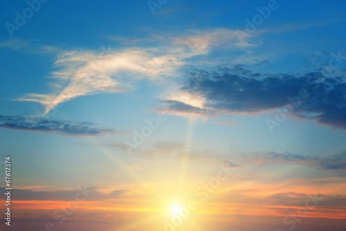 Leinwandbild Motiv the sun above the horizon