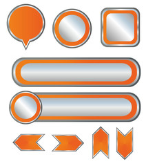 Orange high-detailed modern buttons