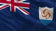 Flag of Anguilla waving in the wind - seamless loop