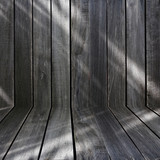 black wood wall