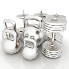 Metall weights and dumbbells