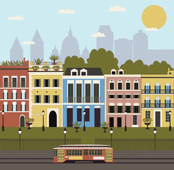 Illustration of City. Vector