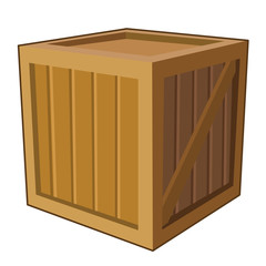 wooden box isolated illustration