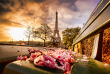 Eiffel Tower against sunrise in Paris, France - 67614916