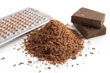 Geraspelte Schokolade