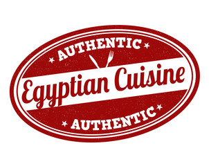 Egyptian cuisine stamp