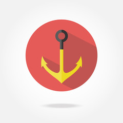 Flat anchor icon.