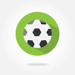 Flat football icon.