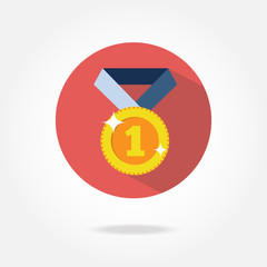 Flat medal icon.