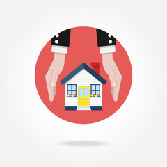 Vector house concept icon. Mortgage concept.