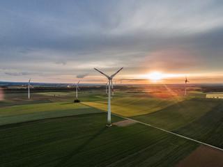 Windkraftanlage Luftaufnahme