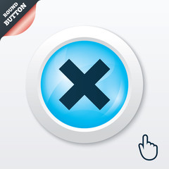 Delete sign icon. Remove button.