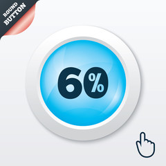 60 percent discount sign icon. Sale symbol.