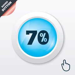 70 percent discount sign icon. Sale symbol.
