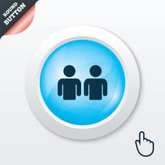 Friends sign icon. Social media symbol.