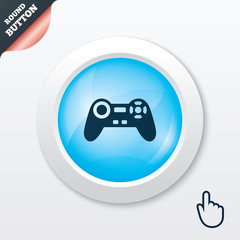 Joystick sign icon. Video game symbol.
