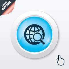 Global search sign icon. World globe symbol.